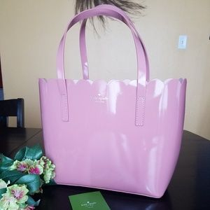 NWOT Kate Spade scalloped purse tote pink blush
